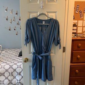 Gap Denim Wrap Dress